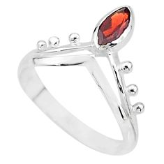 925 sterling silver 1.65cts natural red garnet solitaire ring size 9 t7547