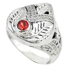 925 sterling silver natural red garnet white topaz ring jewelry size 6 c16970
