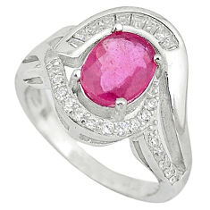 925 sterling silver natural red ruby topaz ring jewelry size 7 c17790