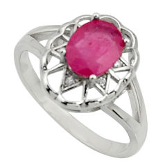 925 sterling silver 2.21cts natural red ruby topaz ring jewelry size 9 c10017