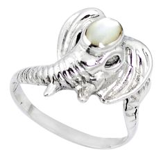 925 sterling silver natural white pearl ring jewelry size 8.5 c11899