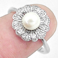 925 sterling silver 2.93cts natural white pearl topaz ring jewelry size 7 c25283