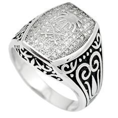 925 sterling silver natural white topaz mens ring jewelry jewelry size 8 c22939