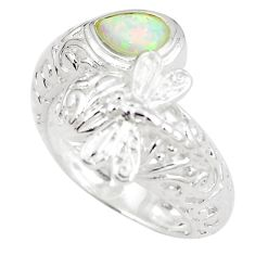 925 sterling silver 1.15cts pink australian opal (lab) ring size 8 a89273 c24418