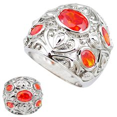 925 sterling silver red garnet quartz oval ring jewelry size 9 c23695