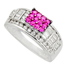 925 sterling silver 3.41cts red ruby (lab) topaz ring jewelry size 6.5 c9371