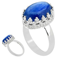 925 sterling silver 6.55cts solitaire natural blue kyanite ring size 6 t20411