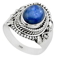 925 sterling silver 4.07cts solitaire natural blue kyanite ring size 7 t15448