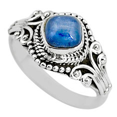 925 sterling silver 1.39cts solitaire natural blue kyanite ring size 7 t2393