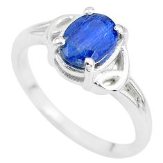 925 sterling silver 2.10cts solitaire natural blue kyanite ring size 7 t7983
