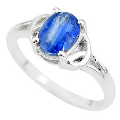 925 sterling silver 1.93cts solitaire natural blue kyanite ring size 8 t7990