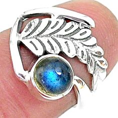 925 sterling silver 1.36cts solitaire natural blue labradorite ring size 6 t6400