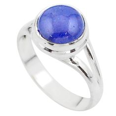 925 sterling silver 4.60cts solitaire natural blue tanzanite ring size 7 t44720
