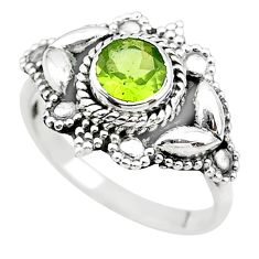 925 sterling silver 1.24cts solitaire natural green peridot ring size 7 t19892