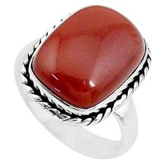 925 sterling silver 9.63cts solitaire natural pink moonstone ring size 8 t10479