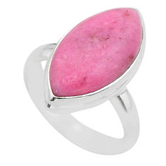 925 sterling silver 11.57cts solitaire natural pink petalite ring size 7 t39110