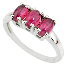 925 sterling silver 2.73cts solitaire natural pink tourmaline ring size 6 t7578