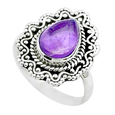 925 sterling silver 2.78cts solitaire natural purple amethyst ring size 7 t50775