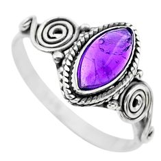 925 sterling silver 2.42cts solitaire natural purple amethyst ring size 9 t26243