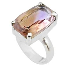 925 sterling silver 7.89cts solitaire natural purple ametrine ring size 4 t45128
