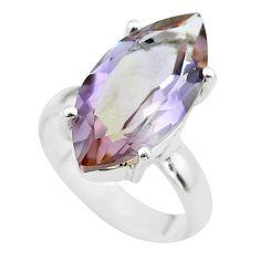 925 sterling silver 8.49cts solitaire natural purple ametrine ring size 5 t50255