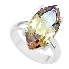 925 sterling silver 8.91cts solitaire natural purple ametrine ring size 6 t50209