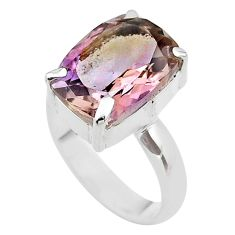 925 sterling silver 5.87cts solitaire natural purple ametrine ring size 7 t45138