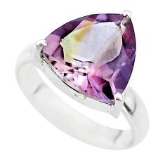 925 sterling silver 6.70cts solitaire natural purple ametrine ring size 7 t50190