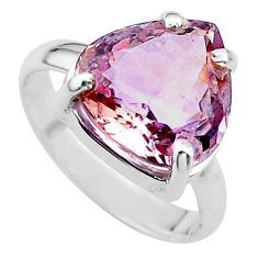 925 sterling silver 8.21cts solitaire natural purple ametrine ring size 8 t24237