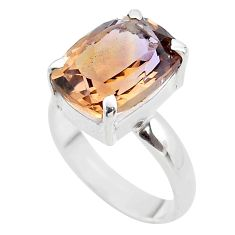 925 sterling silver 6.29cts solitaire natural purple ametrine ring size 8 t45125