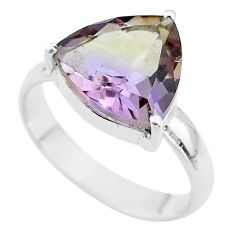 925 sterling silver 6.85cts solitaire natural purple ametrine ring size 9 t50299