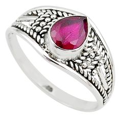 925 silver 1.41cts natural cut ruby graduation handmade ring size 7 t9591