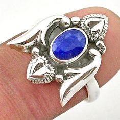 925 sterling silver 1.47cts solitaire natural sapphire heart ring size 6 t40737
