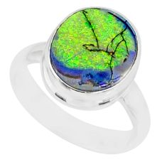 925 sterling silver 3.66cts sterling opal solitaire ring jewelry size 6 r84624