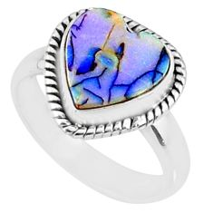 925 sterling silver 3.83cts sterling opal solitaire ring jewelry size 7 r70238