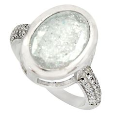 925 sterling silver 6.26cts white crack crystal topaz ring jewelry size 7 c9172