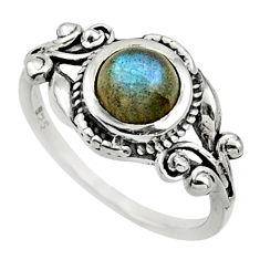 2.21cts natural blue labradorite 925 silver solitaire ring jewelry size 7 d32670