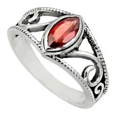Clearance Sale- 2.01cts natural red garnet 925 sterling silver solitaire ring size 7 d32674
