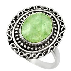 Clearance Sale- 4.93cts natural green aquamarine 925 silver solitaire ring jewelry size 8 d32861