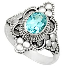 2.09cts natural blue topaz 925 sterling silver solitaire ring size 8 d32927
