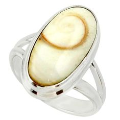 925 silver 8.42cts natural white shiva eye solitaire ring jewelry size 6 d33058