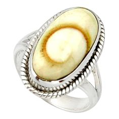 Clearance Sale- 8.22cts natural white shiva eye 925 silver solitaire ring jewelry size 6 d33097