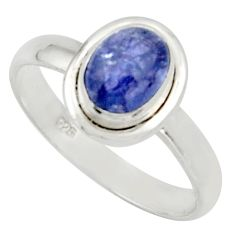1.81cts natural blue tanzanite 925 silver solitaire ring jewelry size 8 d33116