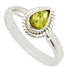 1.63cts natural green tourmaline 925 silver solitaire ring size 8.5 d33123