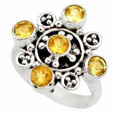 Clearance Sale- 2.79cts natural yellow citrine 925 sterling silver ring jewelry size 8.5 d33986