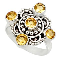 Clearance Sale- 2.68cts natural yellow citrine 925 sterling silver ring jewelry size 8.5 d33990