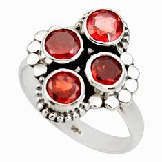 Clearance Sale- 3.70cts natural red garnet 925 sterling silver ring jewelry size 7.5 d34038