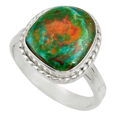 925 silver 5.08cts natural green opaline solitaire ring jewelry size 8.5 d34104