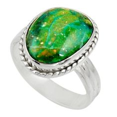 7.33cts natural green opaline 925 silver solitaire ring jewelry size 8 d34107