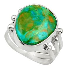 9.47cts natural green opaline 925 sterling silver solitaire ring size 7 d34112